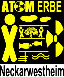 Das Logo der AG AtomErbe Neckarwestheim